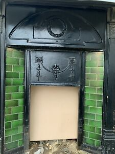 cast iron fireplace victorian tiled