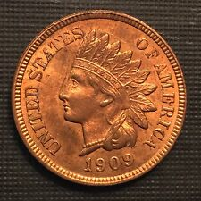 1909 1C Indian Cent Us Mint Coin BU UNC MS HIGH GRADE