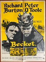 Plakat Becket Peter Glenville Richard Burton Peter O'Toole John Gielgud 60x80cm