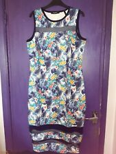 SIMPLY BE BLUE FLOWER PRINT PENCIL DRESS SIZE 18