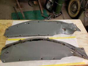 1937  ford pickup front inner fender shields 37 flathead