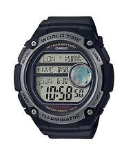Casio Watch * AE3000W-1AV Digital Triple Time Display Black Resin for Men