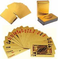 NEW 24K Golden Card Gold Plat Playing Cards Full Per Deck International Standard