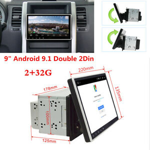 """Double 2Din Android 9.1 Car Stereo Radio 9"""" Touch Screen MP5 Player GPS RAM 2G"""