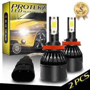 LED Headlight Bulbs Kit CREE H7 for 2010 - 2012 Lincoln MKZ High Beam 6000K