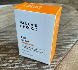 New Paula's Choice BOOST C15 Super Booster 15% Vitamin C Vit E Ferulic Acid 20ML