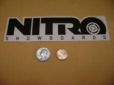 NITRO SNOWBOARDS NITRO STICKER NITRO SNOWBOARDING STICKER