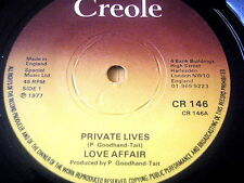 "LOVE AFFAIR - PRIVATE LIVES     7"" VINYL"