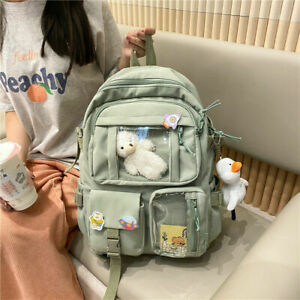 Teens School Backpack Kawaii Cute Bear Travel Casual College Bag for Girls Women