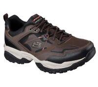 Brown Skechers Shoes Mens Memory 52700 W Wide Fit BRBK Foam Sporty Train Sneaker