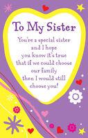 To My Sister Heartwarmers Keepsake Credit Card & Envelope Gift
