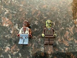 Lot of 2 - Lego Frankenstein & Wolfman Monsters / Halloween Mini Figures