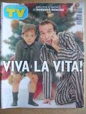 TV Sorrisi e Canzoni n°52 1997 Roberto Benigni Fabrizio De Andrè Dori Ghezzi[D3]