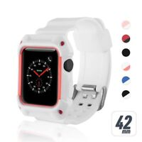 Rugged Protective Bumper Case w/ Strap Band Wristband For Apple Watch 38 mm 42mm