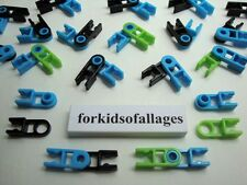 KNEX HINGES: 20 Pairs (40 Hinge Parts / Pieces) Blue Green Black Bulk K'nex Lot