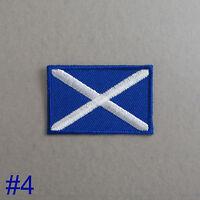 Scotland Flag Iron-On / Sew On Cloth Patch Badge Scottish Saint Andrew's Cross