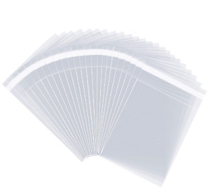 """4"""" X 6"""" 1000 Clear Resealable Cellophane Cello Bags Self Seal - Fits 4X6 Prints"""