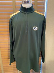 ANTIGUA Green Bay Packers 1/4 Zip Pullover Jacket Size XL                 P12320