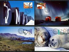 2002 AAT Antarctic Bases Maxi Cards Prepaid Postcard Maxicards Australia