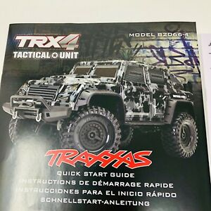 Traxxas TRX4 TRX-4 Tactical Unit 82066-4 Quick Start Guide Manual Pack New