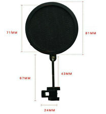 Studio Recording Microphone Mic Wind Screen Pop Filter Mask Shield Double Layer