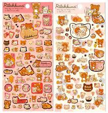 Sanx San-x Rilakkuma Cat Relax Lazy Sticker Sheet stickers kawaii Japan Bear LOT