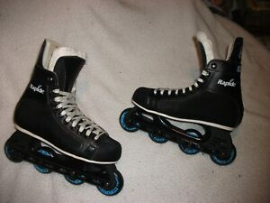 CCM RAPIDE 55 ROLLER HOCKEY SKATES ROLLER BLADES PERFECT SHAPE QUALITY SIZE 9