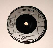 """The WHO : LET'S SEE ACTION  7"""" Vinyl Single 45 (Track 1971)  VG++"""