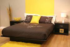 4 Piece Queen Bedroom Furniture Set Platform Bed Headboard w/ 2 Nightstands New