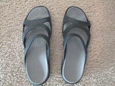 Crocs Meleen Twist Strappy Slide Sandals Womens size 9  W Black waterproof