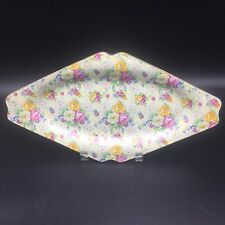 """Lord Nelson Chintz Rose Time BCM Made in England Diamond Plate 12 7/8"""" Cottage"""