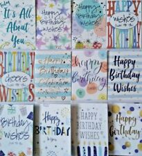 Pack of 12 Male Female Contemporary Modern Birthday Greeting Cards for Him Her 1