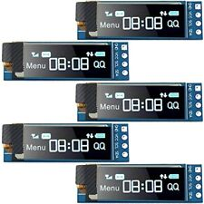 5 Pieces I2C Display Module 0.91 Inch SSD1306 OLED Blue Screen Driver DC 3.3V5V
