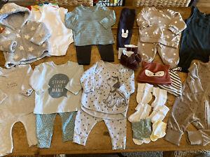 0-3 MONTHS UNISEX NEUTRAL CLOTHES BUNDLE