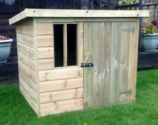 Pinelap Dog Kennel Compact Deluxe Fully T&G Pressure Treated Tanalised Pet Home