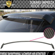 Fit 02-07 Subaru Impreza WRX STI 4Dr sedan Rear Roof Spoiler CF Carbon Fiber