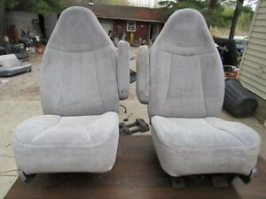92-96  FORD TRUCK BRONCO GRAY FRONT BUCKET SEATS