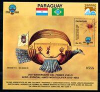 Paraguay 1983 Luftfahrt Montgolfiere Aviation Block 391 Postfrisch MNH