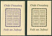 Deutsche Lokalausgabe Strausberg Block 1 II + 2 II postfrisch Michel 110,00 €