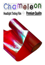 2 x A4 Sheets Chameleon Red Car Motorbike Headlight Rear Lamp Tinting Film