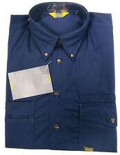 F-Engel Shirt Mens Quality Hard-Wearing Long Sleeve Shirt Work Workzone Blue