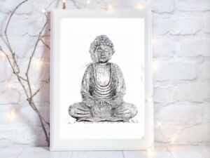 buddha 2 glossy Print poster a4 picture picture unframed