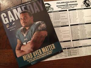 PHILADELPHIA EAGLES Gameday +Media Card 12.3.18 Vs Washington Redskins Free Ship
