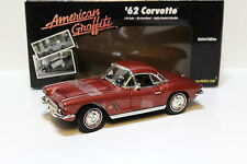 1:18 Ertl 1962 CHEVROLET CORVETTE American Graffiti Red New chez Premium-MODELCAR