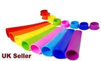 6x Silicone Ice Pop PushUp Popsicle Stick Ice Cream Jelly Lolly Maker Mould Mold
