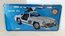 300 SL Mercedes Benz License Plate Aluminum Blue