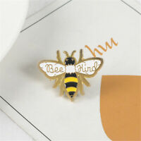 Bee Kind Enamel Pin Cute Honey Bee Animal Badge Brooch Pins Party Jewelry Gifts~