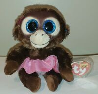 """Ty Beanie Boos - NADYA the Monkey 6"""" (European Exclusive) MINT with MINT TAGS"""