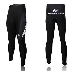 Merida Men's Cycling Trousers Padded Bike Bicycle Long Pants Black S-5XL