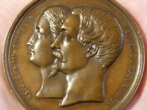 1856 Birth of Son of Napoleon & Eugenie Bronze Medal 52mm #T2264